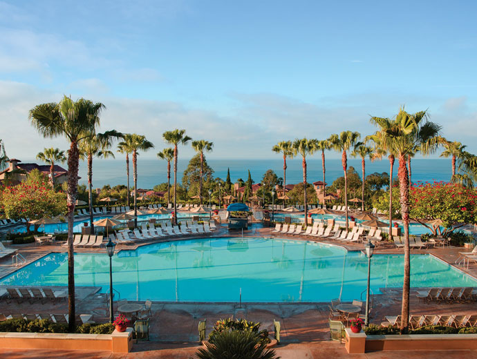 View of the main pool at Marriott's Newport Coast Villas in Newport Coast, California.