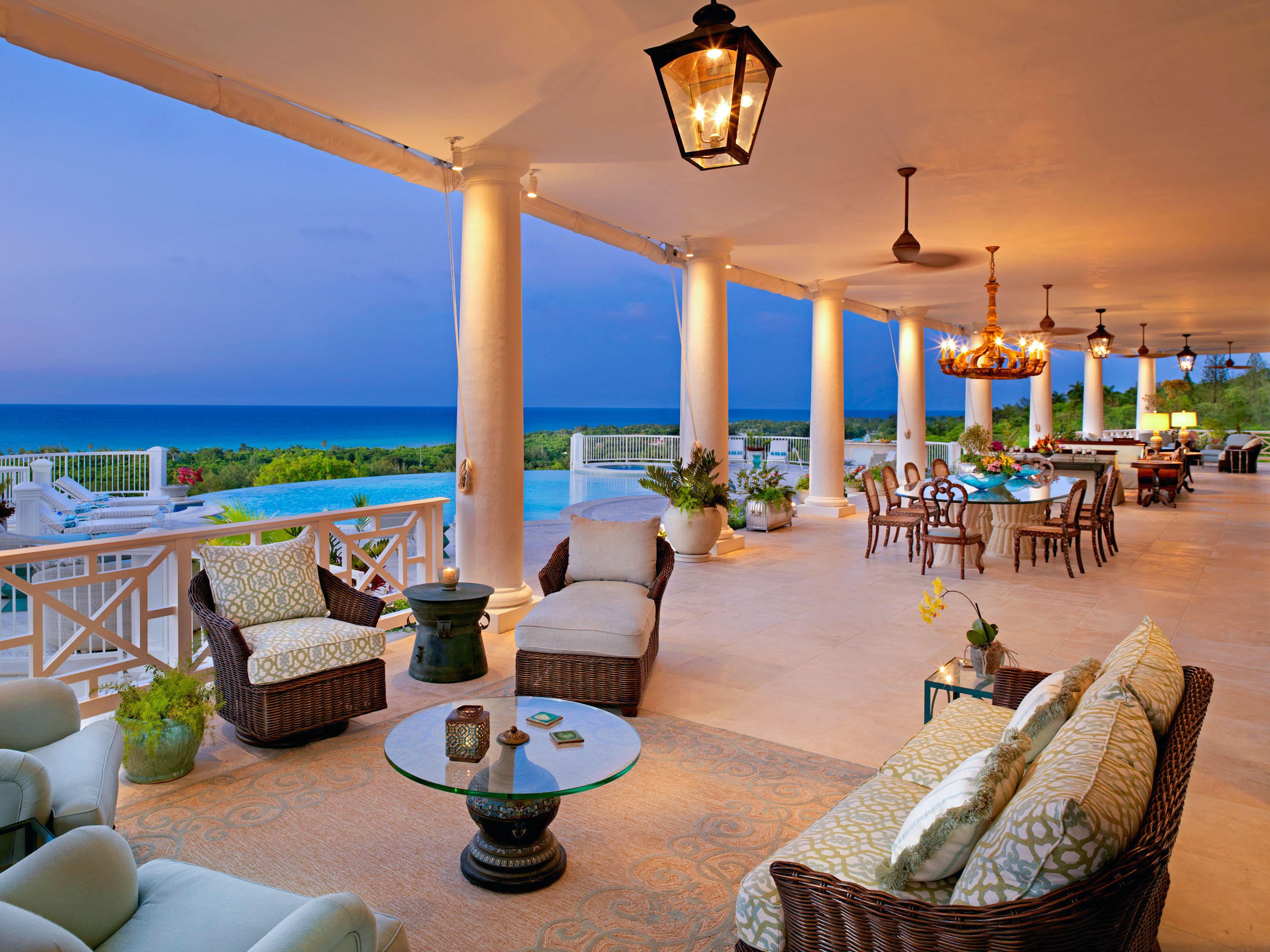 Outside view of a luxury vacation home. One of many vacation homes available.