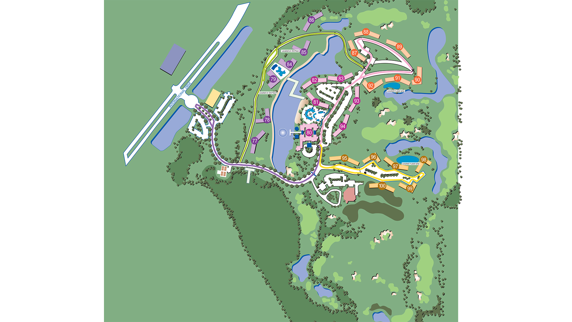 Marriott Grande Vista Orlando Resort Map Map | Marriott's Grande Vista