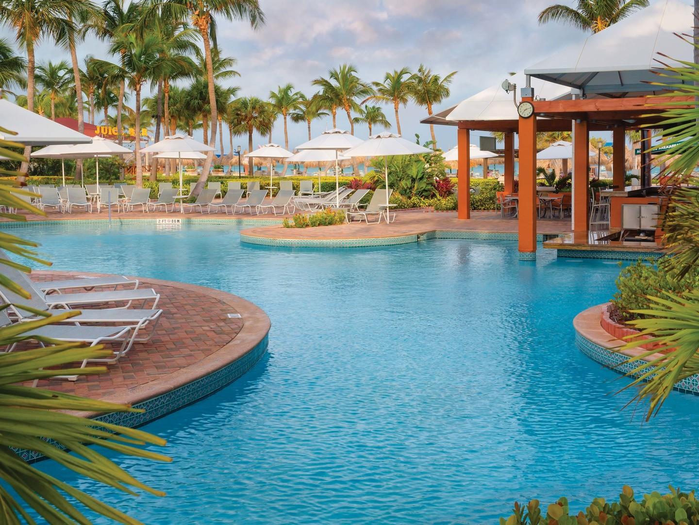 Marriott's Aruba Ocean Club Pool. Marriott's Aruba Ocean Club is located in Palm Beach,  Aruba.