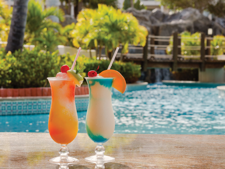 Marriott's Aruba Ocean Club Pool Bar. Marriott's Aruba Ocean Club is located in Palm Beach,  Aruba.