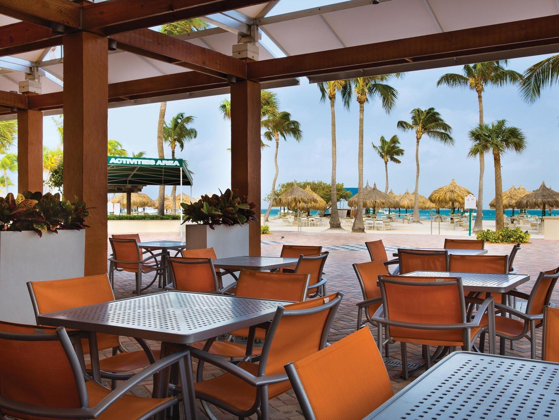 Marriott's Aruba Ocean Club Sands Grill. Marriott's Aruba Ocean Club is located in Palm Beach,  Aruba.