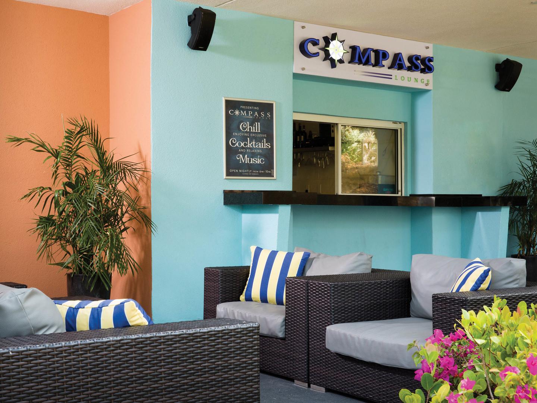 Marriott's Aruba Surf Club<span class='trademark'>®</span> Compass Lounge. Marriott's Aruba Surf Club<span class='trademark'>®</span> is located in Palm Beach,  Aruba.