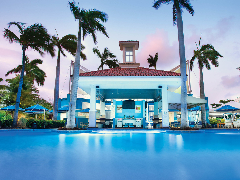 Marriott's Aruba Surf Club<span class='trademark'>®</span> Seaworthy's Poolside Bar & Grille. Marriott's Aruba Surf Club<span class='trademark'>®</span> is located in Palm Beach,  Aruba.