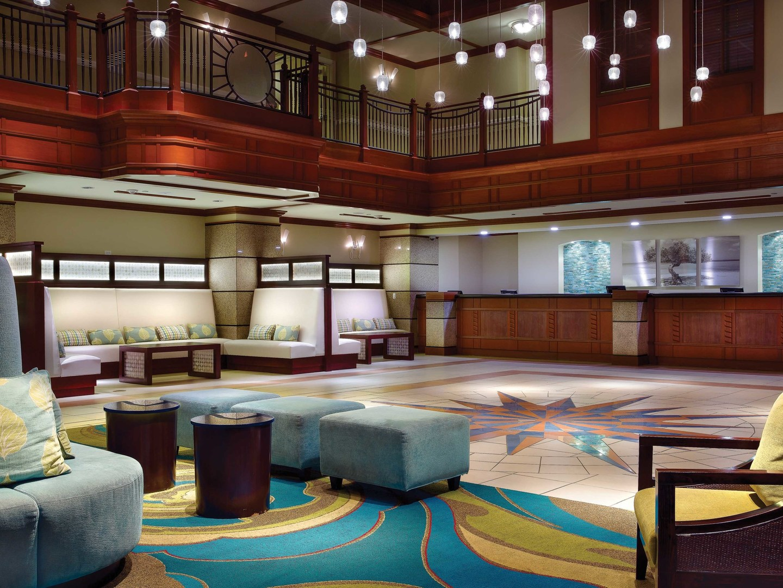 Marriott's Aruba Surf Club<span class='trademark'>®</span> Resort Lobby. Marriott's Aruba Surf Club<span class='trademark'>®</span> is located in Palm Beach,  Aruba.