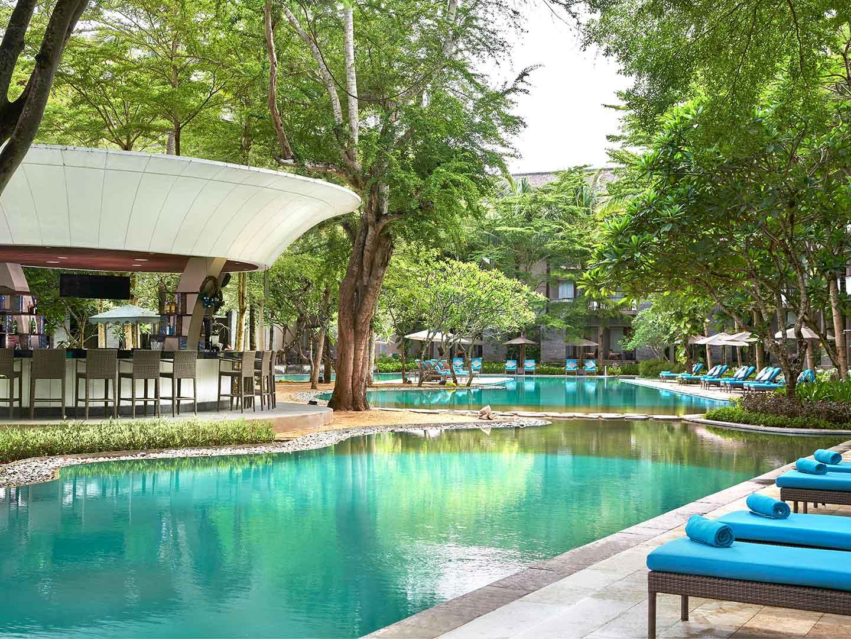 Marriott's Bali Nusa Dua Gardens Pool Bar. Marriott's Bali Nusa Dua Gardens is located in Nusa Dua,  Indonesia.
