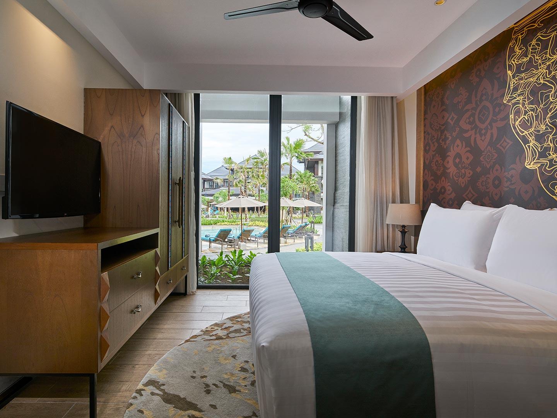Marriott's Bali Nusa Dua Gardens Villa Master Bedroom. Marriott's Bali Nusa Dua Gardens is located in Nusa Dua,  Indonesia.