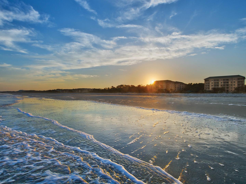 Marriott's Barony Beach Club Resort View from Ocean. Marriott's Barony Beach Club is located in Hilton Head Island, South Carolina United States.