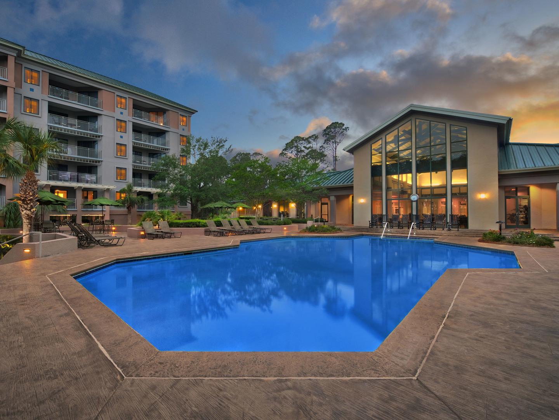 Marriott's Barony Beach Club Heated Pool. Marriott's Barony Beach Club is located in Hilton Head Island, South Carolina United States.