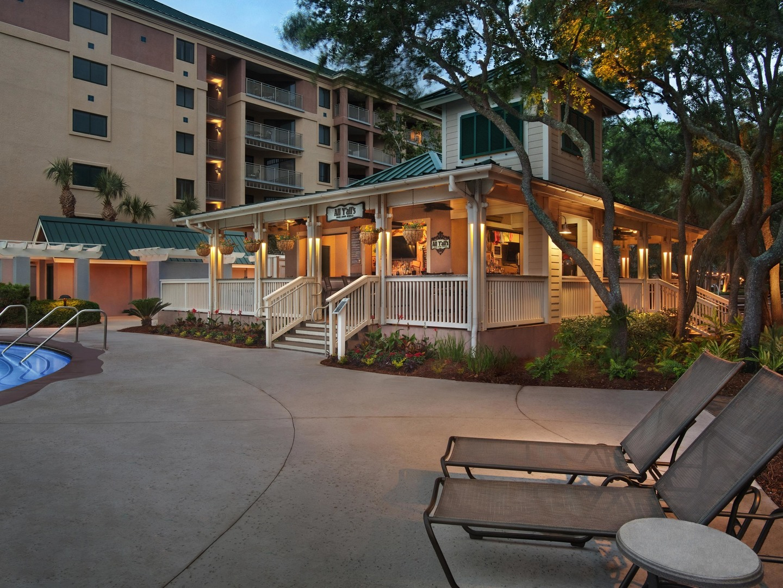 Marriott's Barony Beach Club All Yalls Grille. Marriott's Barony Beach Club is located in Hilton Head Island, South Carolina United States.