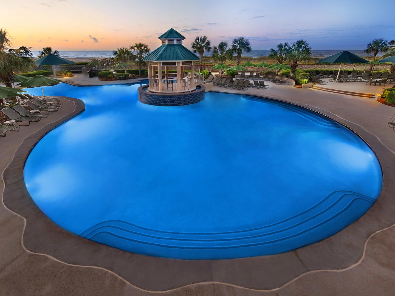 Marriott's Barony Beach Club Ocean View Pool. Marriott's Barony Beach Club is located in Hilton Head Island, South Carolina United States.