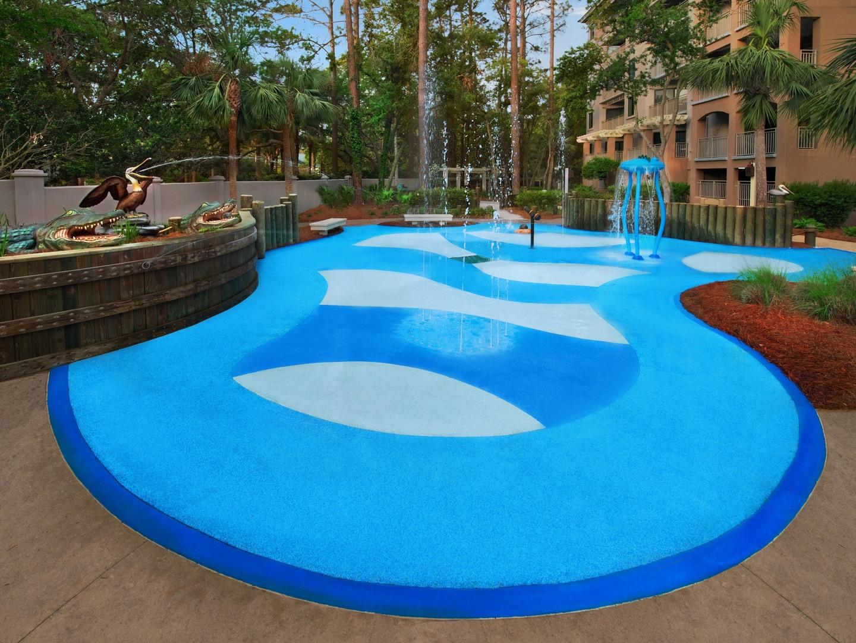 Marriott's Barony Beach Club Splash Pad. Marriott's Barony Beach Club is located in Hilton Head Island, South Carolina United States.