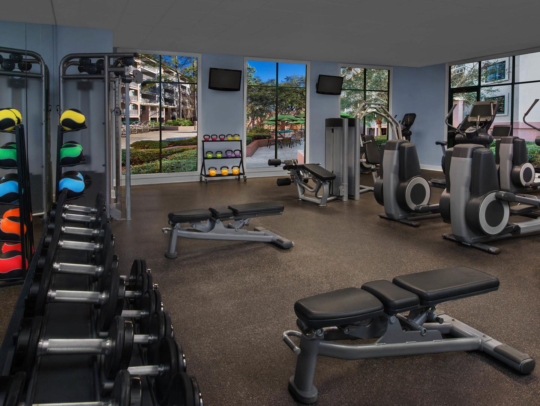 Marriott's Barony Beach Club Fitness Center. Marriott's Barony Beach Club is located in Hilton Head Island, South Carolina United States.