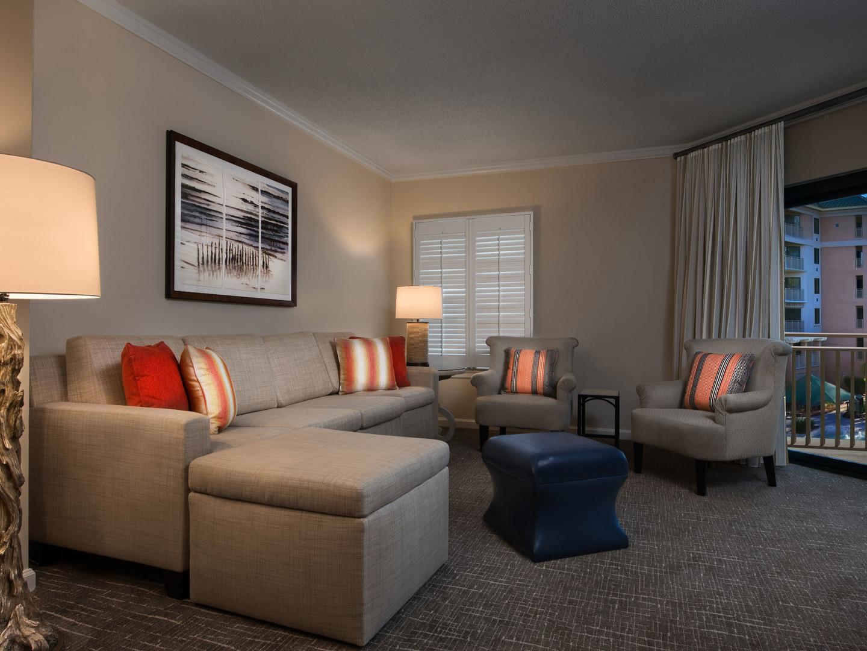 Marriott's Barony Beach Club Villa Living Room. Marriott's Barony Beach Club is located in Hilton Head Island, South Carolina United States.