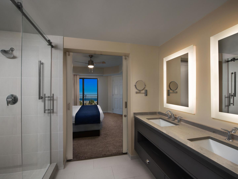 Marriott's Barony Beach Club Villa Master Bathroom. Marriott's Barony Beach Club is located in Hilton Head Island, South Carolina United States.