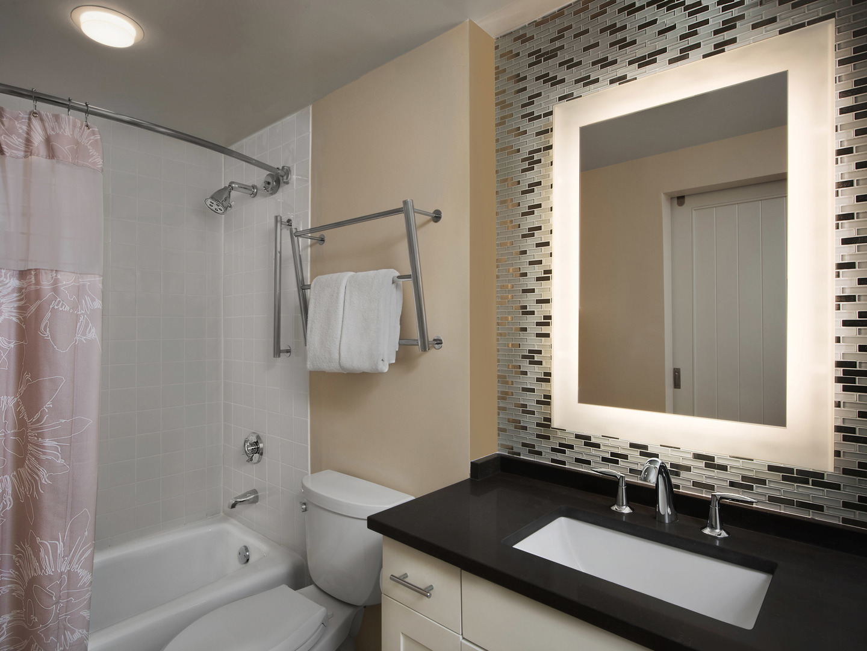 Marriott's Barony Beach Club Villa Guest Bathroom. Marriott's Barony Beach Club is located in Hilton Head Island, South Carolina United States.