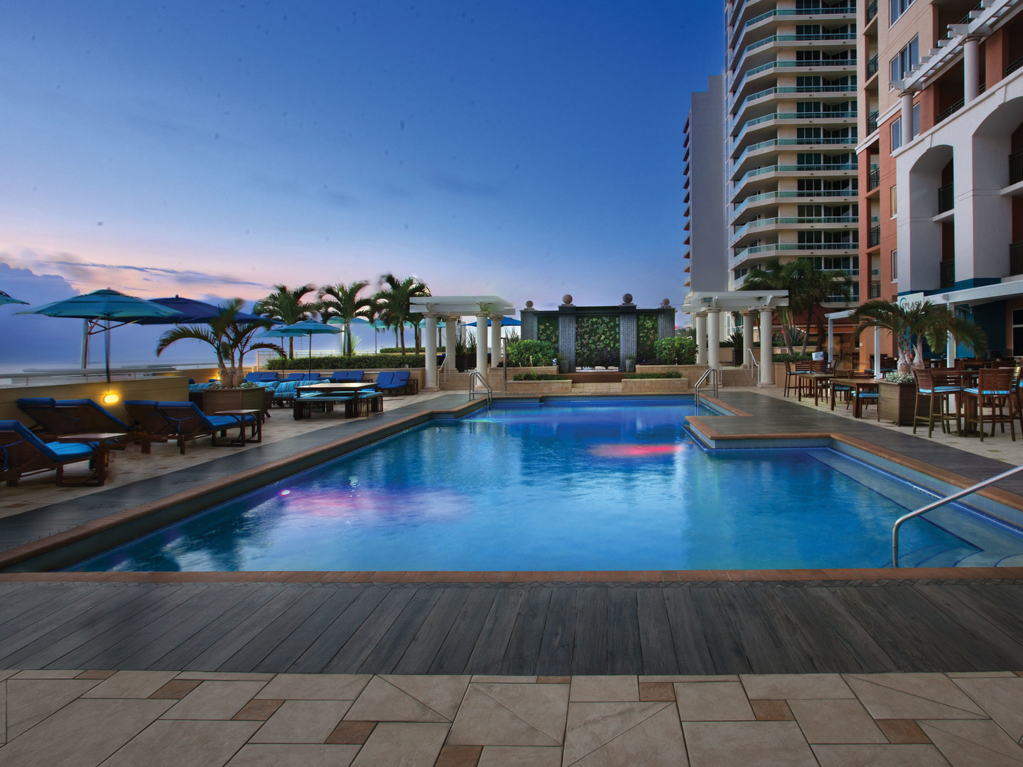Marriott's BeachPlace Towers Pool. Marriott's BeachPlace Towers is located in Fort Lauderdale, Florida United States.