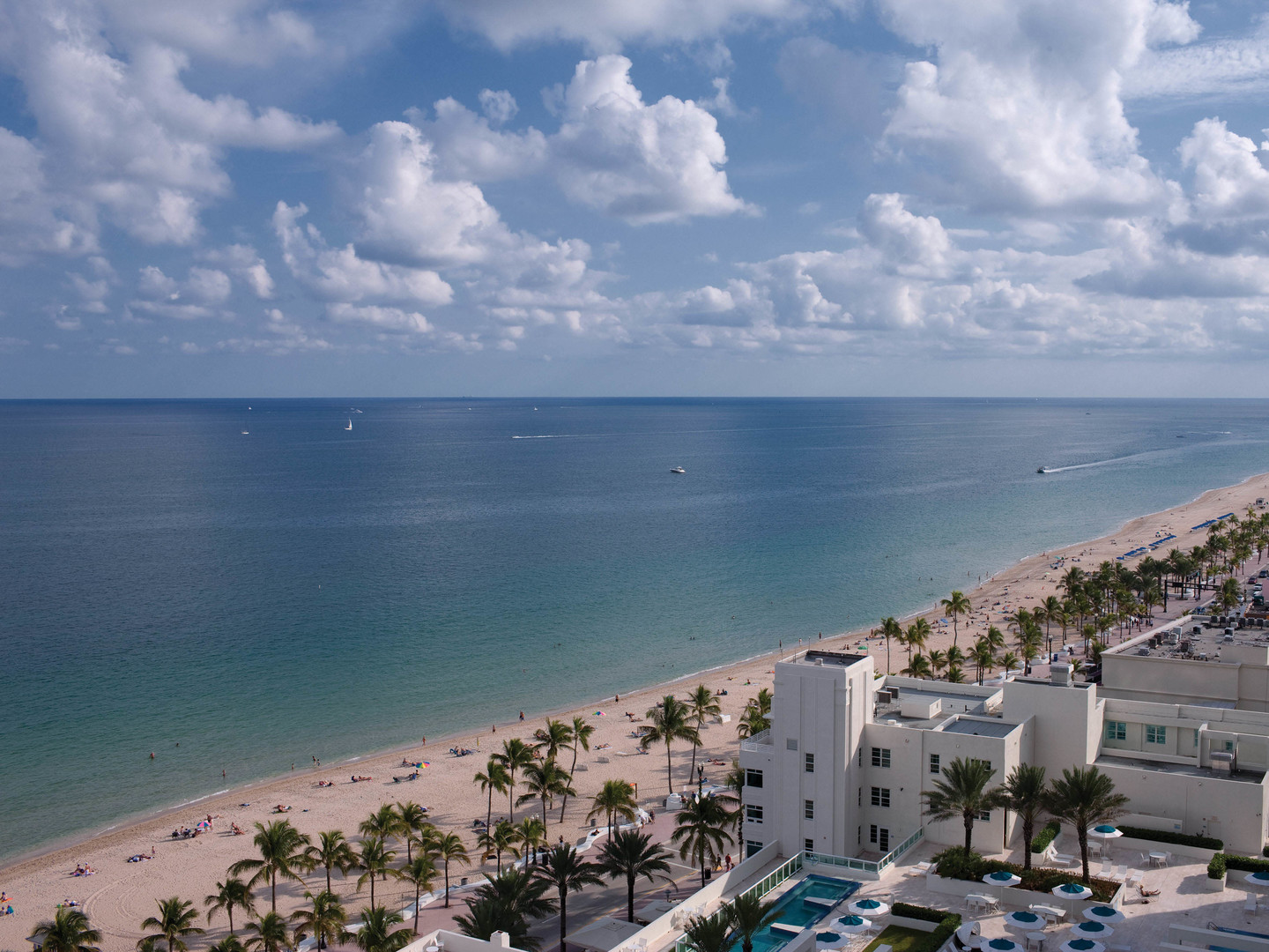 Marriott's BeachPlace Towers Ocean View from Resort. Marriott's BeachPlace Towers is located in Fort Lauderdale, Florida United States.