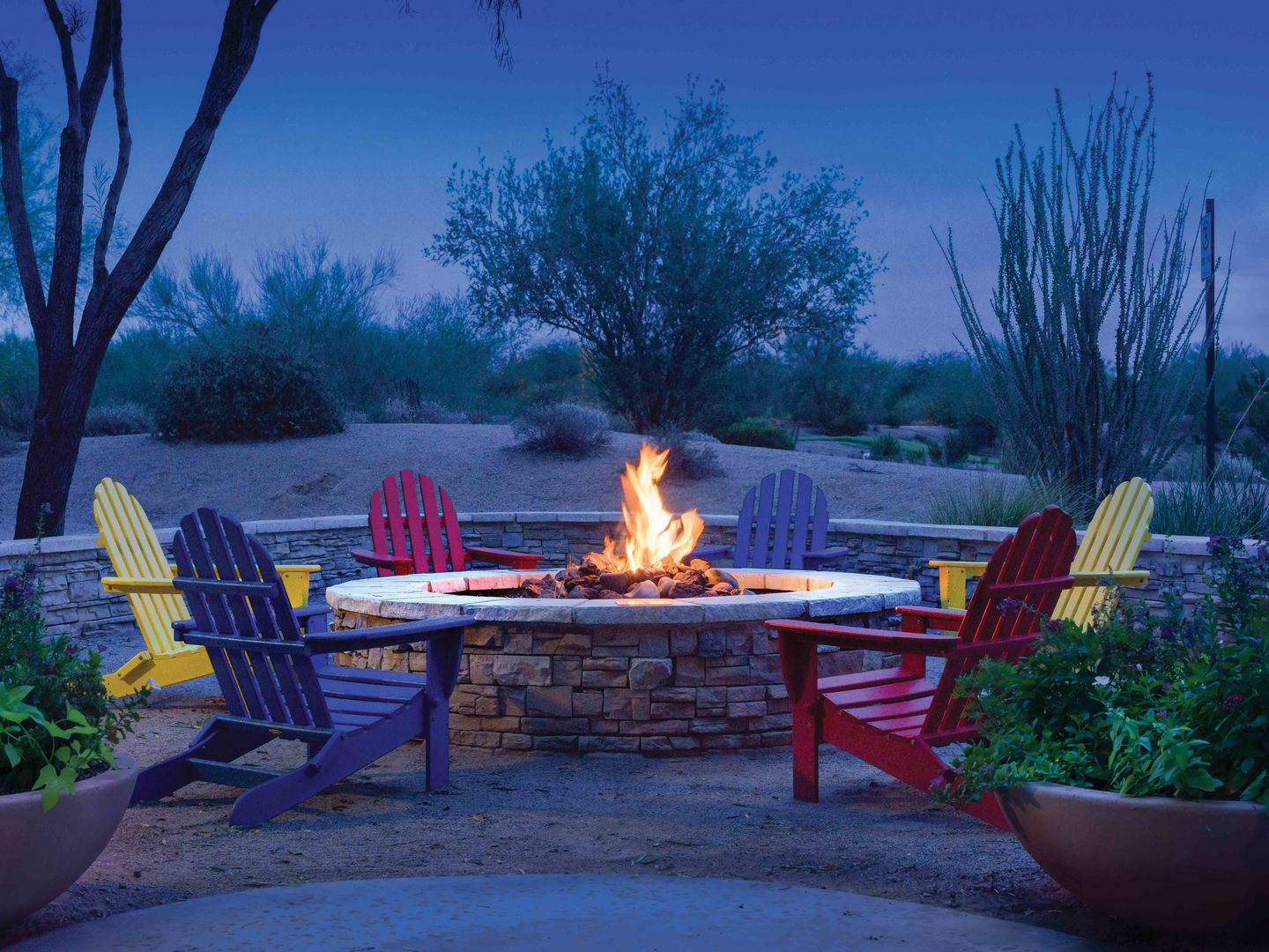 Marriott's Canyon Villas Fire Pit. Marriott's Canyon Villas is located in Phoenix, Arizona United States.