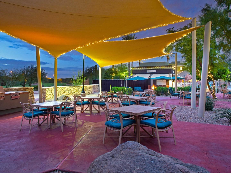 Marriott's Canyon Villas Sail Shade Area. Marriott's Canyon Villas is located in Phoenix, Arizona United States.