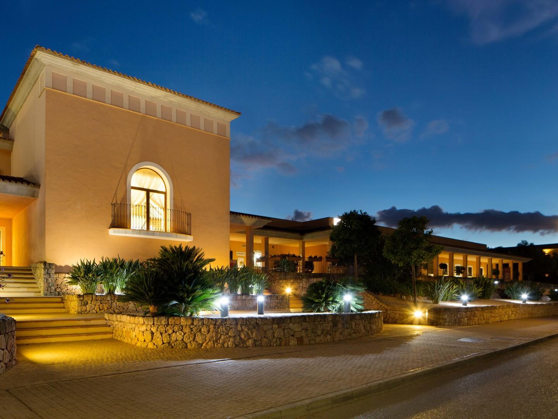 Marriott's Club Son Antem Resort Exterior View from Ocean. Marriott's Club Son Antem is located in Mallorca,  Spain.