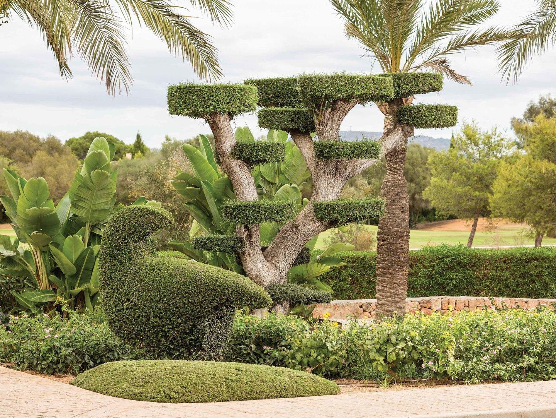 Marriott's Club Son Antem Resort Grounds Topiary. Marriott's Club Son Antem is located in Mallorca,  Spain.
