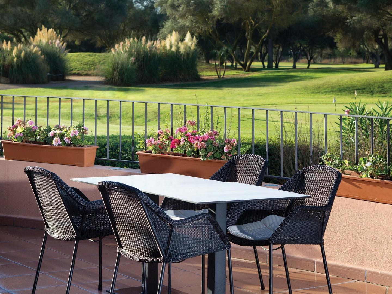 Marriott's Club Son Antem Resort Grounds Patio Table. Marriott's Club Son Antem is located in Mallorca,  Spain.