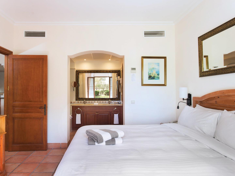 Marriott's Club Son Antem Villa Master Bedroom/Bathroom. Marriott's Club Son Antem is located in Mallorca,  Spain.