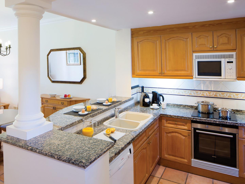Marriott's Club Son Antem Villa Kitchen. Marriott's Club Son Antem is located in Mallorca,  Spain.