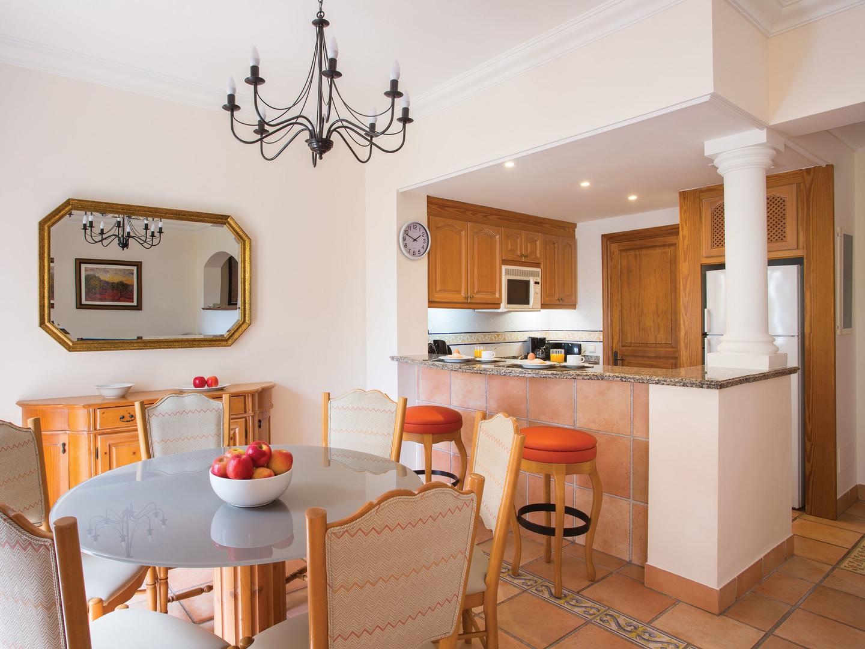 Marriott's Club Son Antem Villa Kitchen/Dining Room. Marriott's Club Son Antem is located in Mallorca,  Spain.