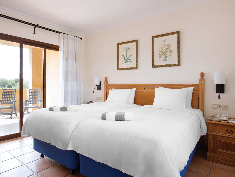 Marriott's Club Son Antem Villa Guest Bedroom. Marriott's Club Son Antem is located in Mallorca,  Spain.