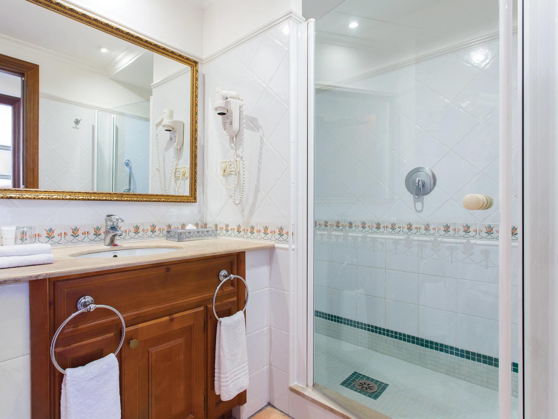 Marriott's Club Son Antem Villa Guest Bathroom. Marriott's Club Son Antem is located in Mallorca,  Spain.