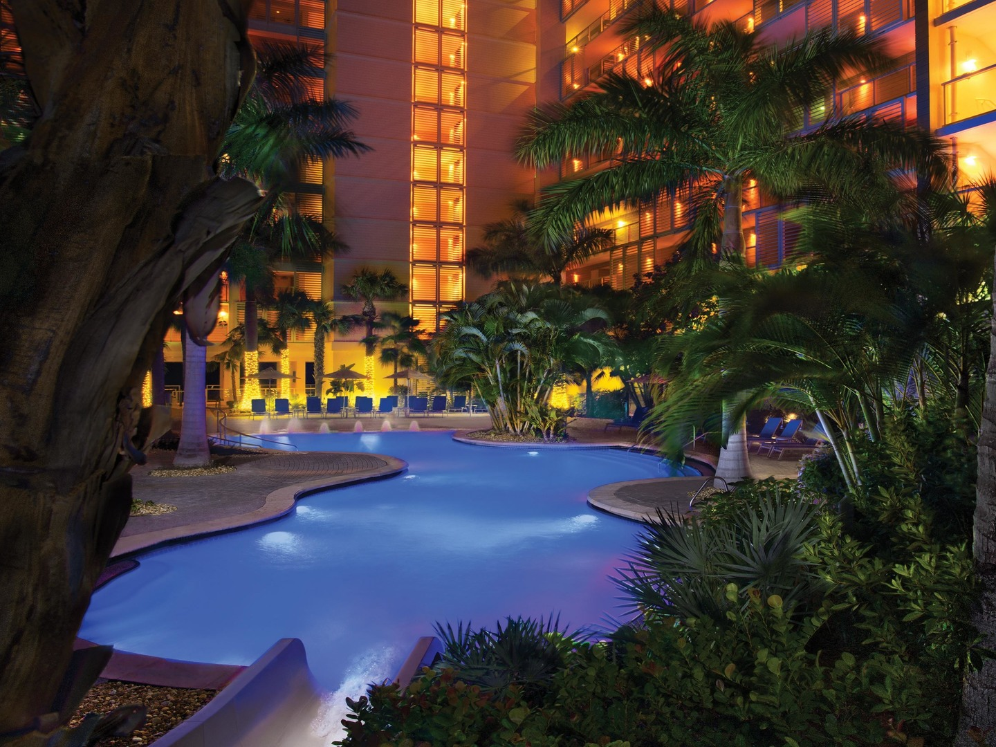 Marriott's Crystal Shores Grotto Pool. Marriott's Crystal Shores is located in Marco Island, Florida United States.