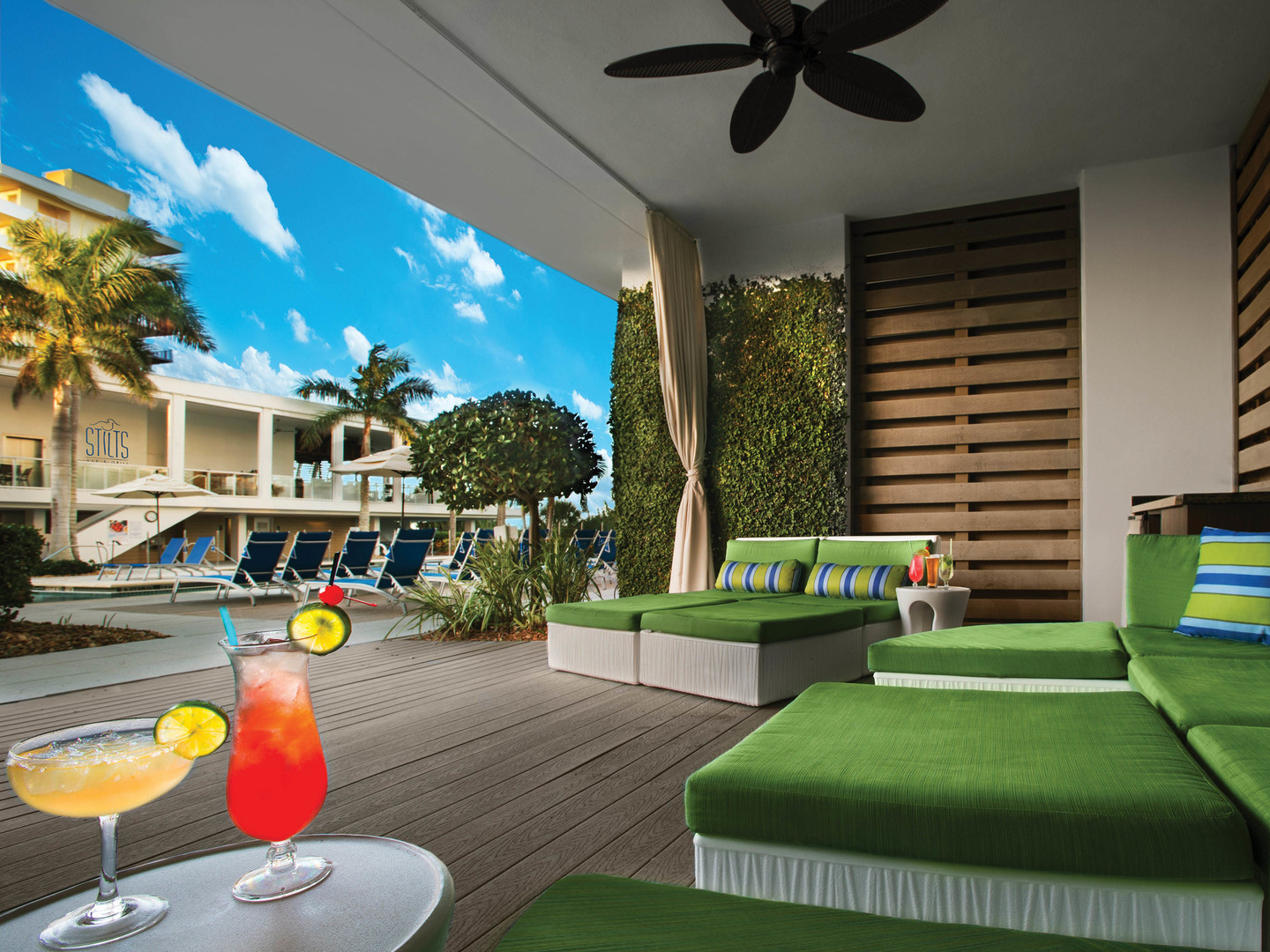 Marriott's Crystal Shores Pool Cabanas. Marriott's Crystal Shores is located in Marco Island, Florida United States.