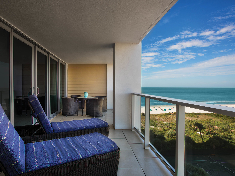 Marriott's Crystal Shores Villa Balcony. Marriott's Crystal Shores is located in Marco Island, Florida United States.