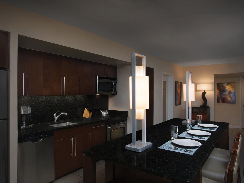 Marriott's Crystal Shores Villa Kitchen. Marriott's Crystal Shores is located in Marco Island, Florida United States.
