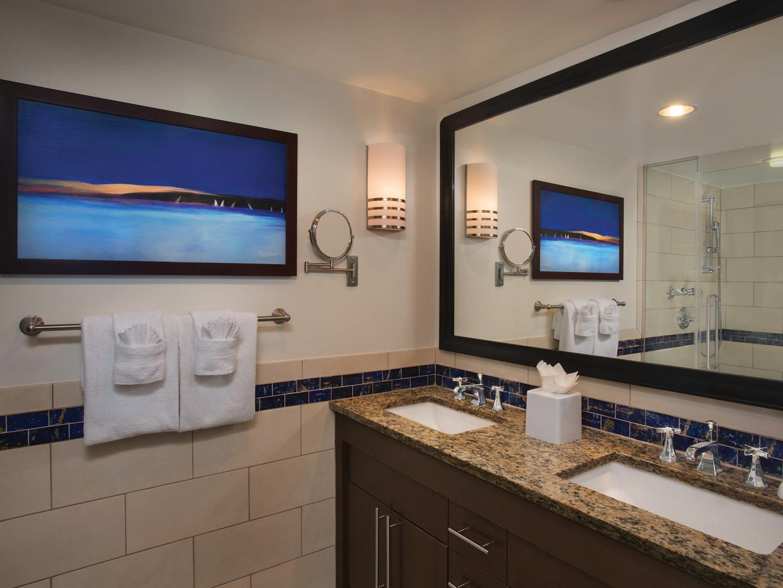 Marriott's Crystal Shores Villa Master Bathroom. Marriott's Crystal Shores is located in Marco Island, Florida United States.