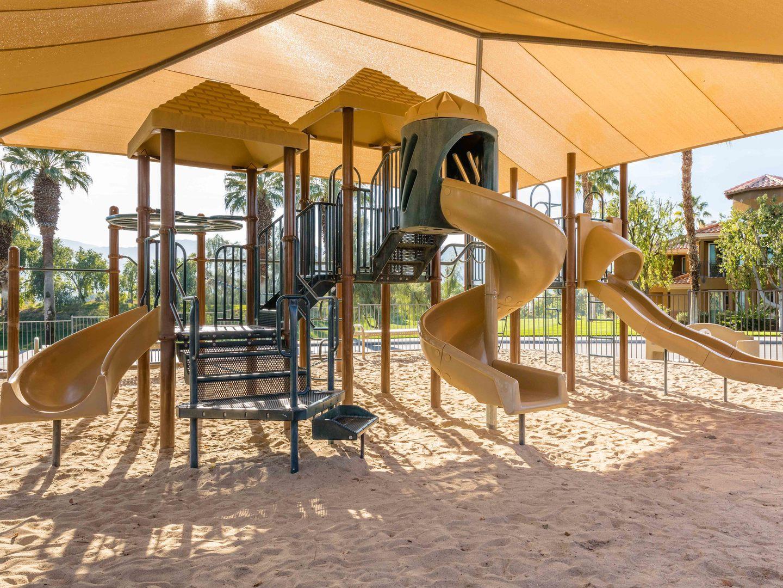 Marriott's Desert Springs Villas Playground. Marriott's Desert Springs Villas is located in Palm Desert, California United States.