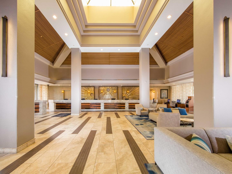 Marriott's Desert Springs Villas Lobby. Marriott's Desert Springs Villas is located in Palm Desert, California United States.