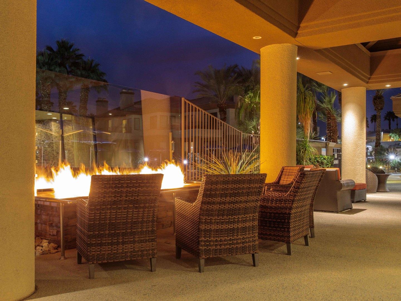 Marriott's Desert Springs Villas Fire Pit/Lounge Area. Marriott's Desert Springs Villas is located in Palm Desert, California United States.