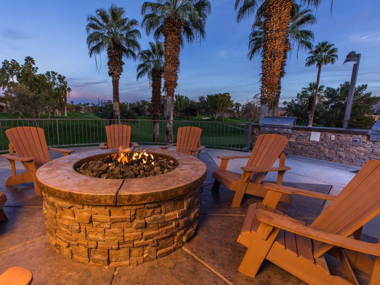 Marriott's Desert Springs Villas Fire Pit. Marriott's Desert Springs Villas is located in Palm Desert, California United States.