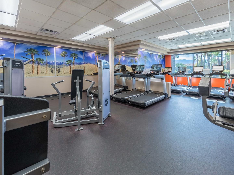 Marriott's Desert Springs Villas Fitness Center. Marriott's Desert Springs Villas is located in Palm Desert, California United States.