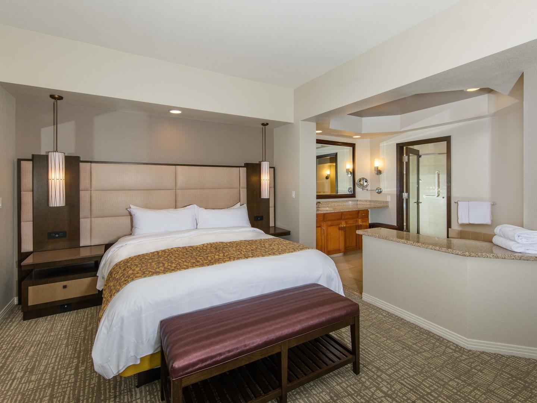 Marriott's Desert Springs Villas Villa Master Bedroom. Marriott's Desert Springs Villas is located in Palm Desert, California United States.