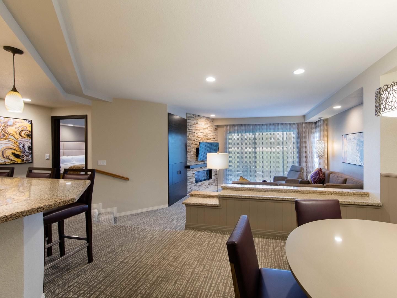 Marriott's Desert Springs Villas Villa Living Room/Dining Room. Marriott's Desert Springs Villas is located in Palm Desert, California United States.