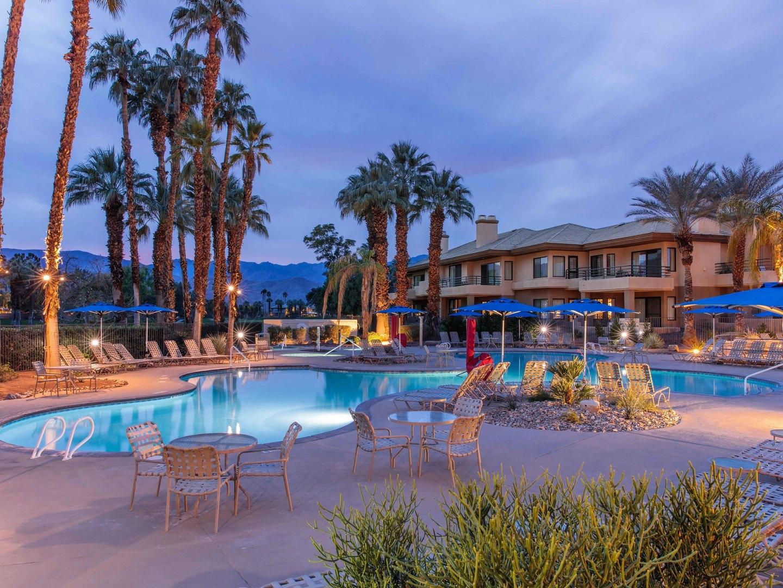 Marriott's Desert Springs Villas II Pool. Marriott's Desert Springs Villas II is located in Palm Desert, California United States.