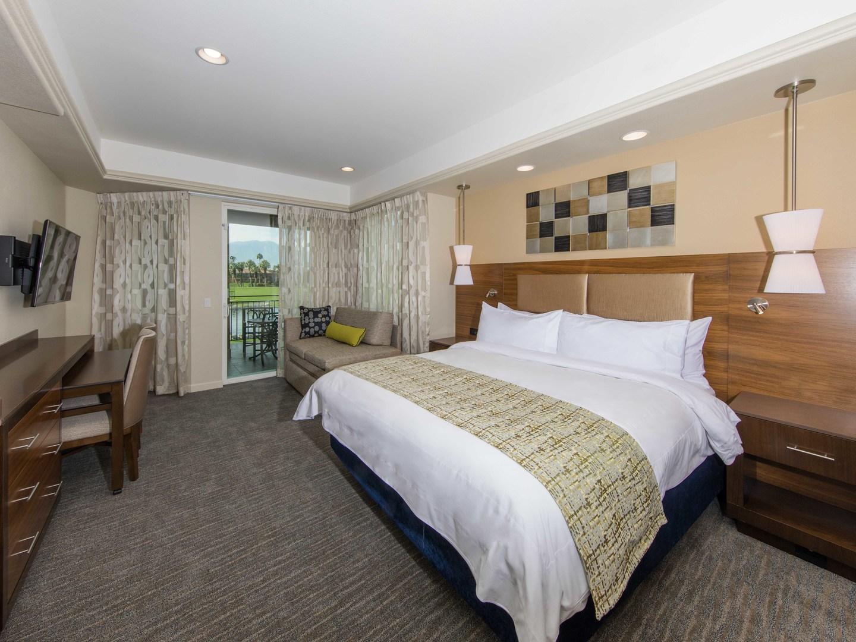 Marriott's Desert Springs Villas II Villa Master Bedroom. Marriott's Desert Springs Villas II is located in Palm Desert, California United States.