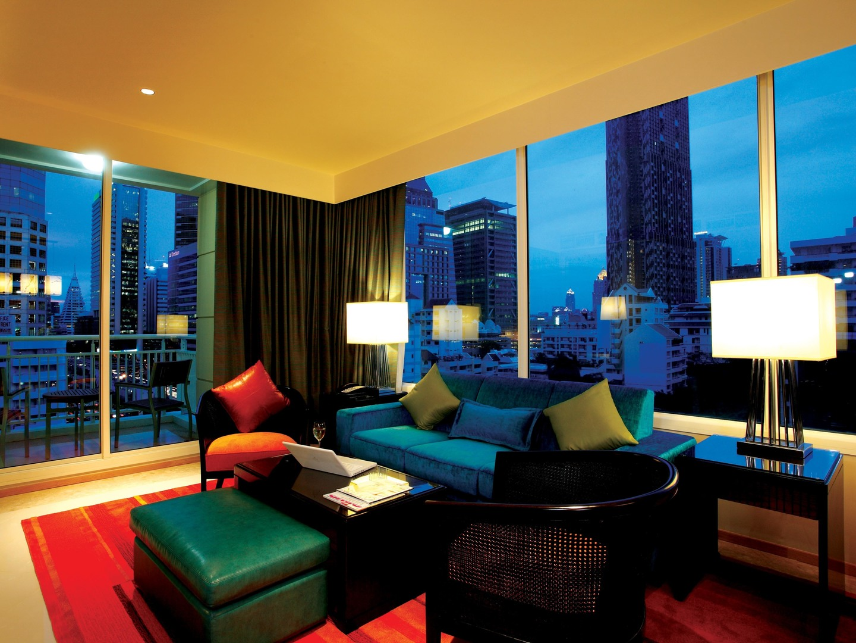 Marriott Vacation Club<span class='trademark'>®</span> at The Empire Place<span class='trademark'>©</span> Villa Living Room. Marriott Vacation Club<span class='trademark'>®</span> at The Empire Place<span class='trademark'>©</span> is located in Yannawa, Sathorn, Bangkok Thailand.