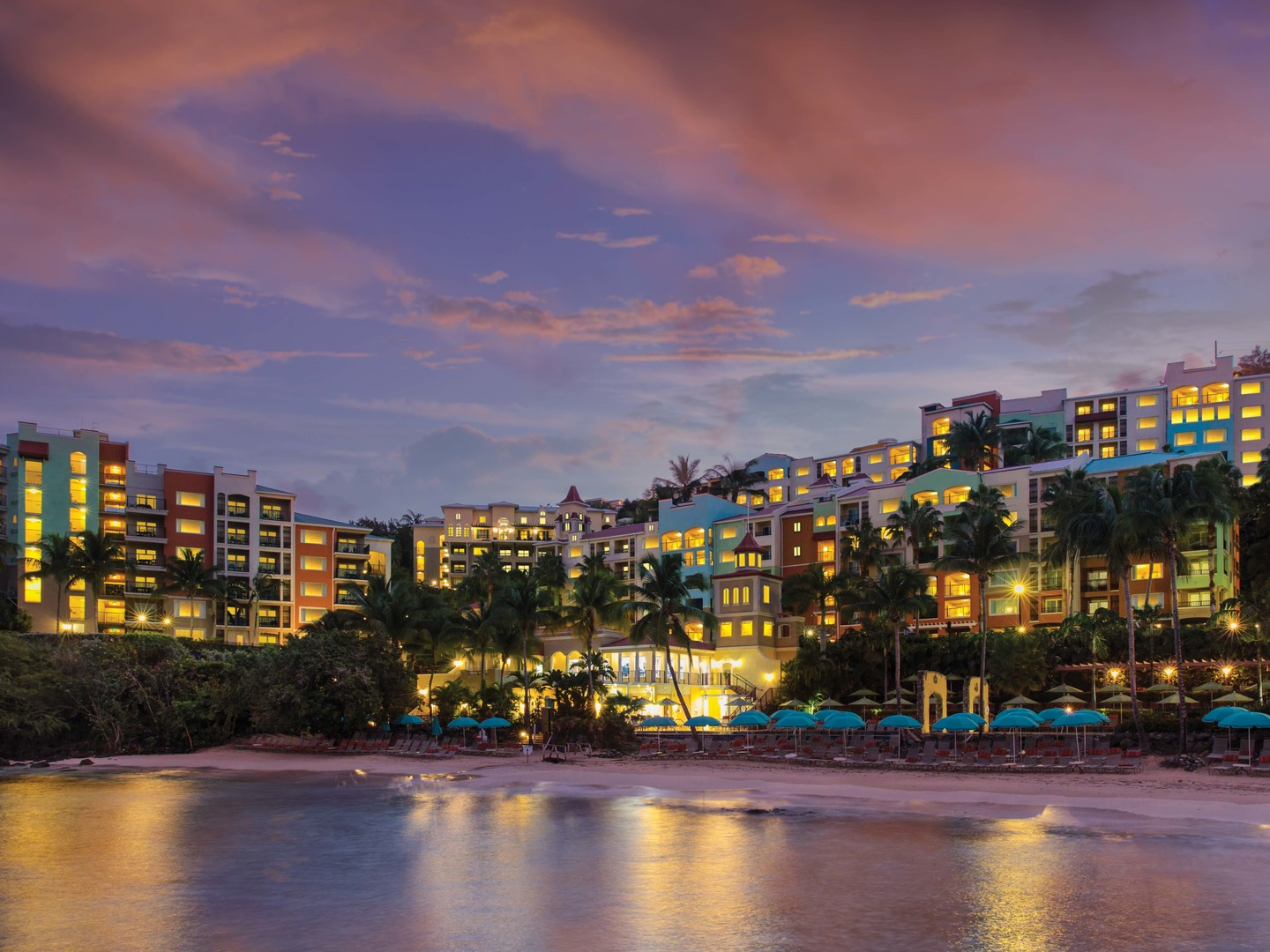 Marriott's Frenchman's Cove Resort View from Bay. Marriott's Frenchman's Cove is located in St. Thomas, US Virgin Islands United States.