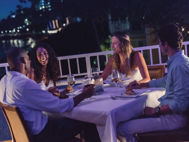 Marriott's Frenchman's Cove Havana Blue Restaurant. Marriott's Frenchman's Cove is located in St. Thomas, US Virgin Islands United States.