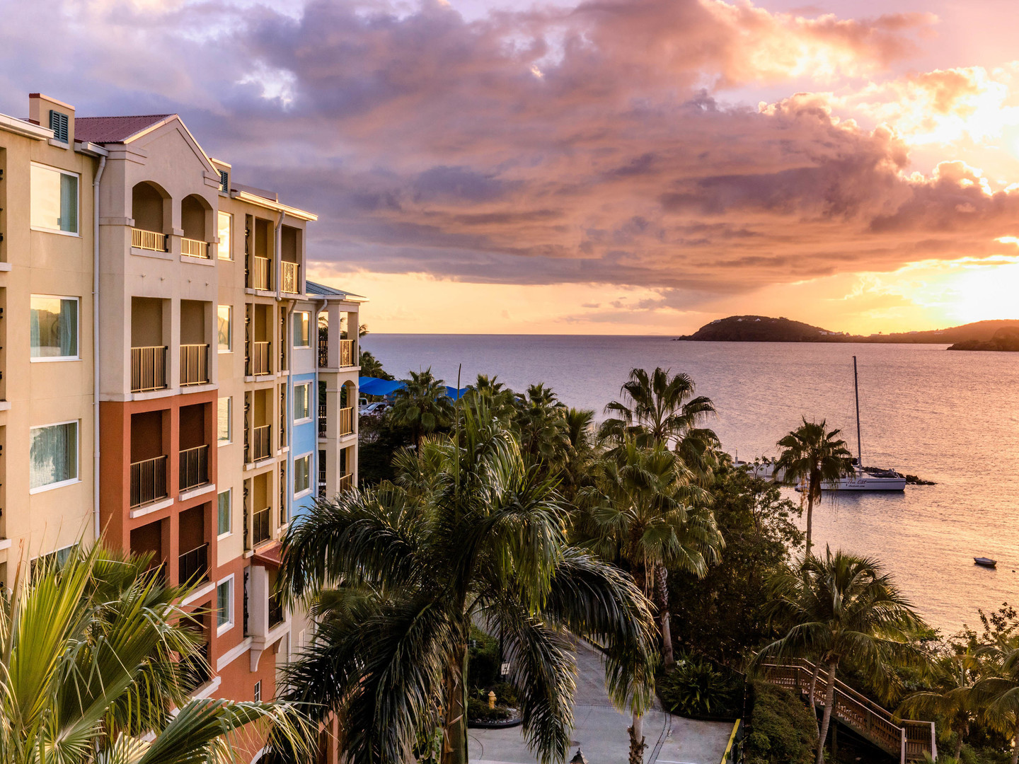 Marriott's Frenchman's Cove Building Exterior. Marriott's Frenchman's Cove is located in St. Thomas, US Virgin Islands United States.